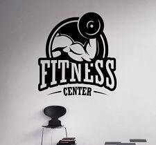 Fitness Logo Wall Vinyl Decal Sport Gym Emblem Vinyl Sticker Window Stickers 1