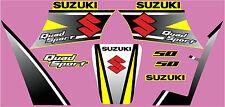 Suzuki LT50A Gráfico/Calcomanía Kit Fábrica Estilo Amarillo, Blanco O Rojo
