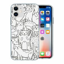 For Apple iPhone 11 Silicone Case Cat Pattern - S108