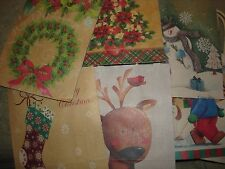 "HOLIDAY MINI GIFT BAGS  LOT OF 8  APPROX. SIZE 4 1/2"" X 5 1/2"" DIFFERENCE DESIGN"