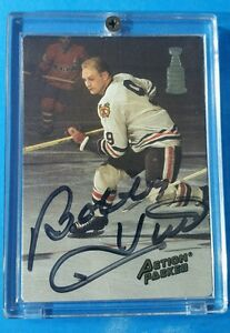 1993 ACTION PACKED HOCKEY PROTOTYPE BH1 BOBBY HULL AUTOGRAPHED NM-MINT