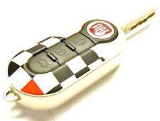 Nuevo Oficial Fiat Abarth 500, Panda, Grande Punto & Evo accidentada Bandera clave cubierta