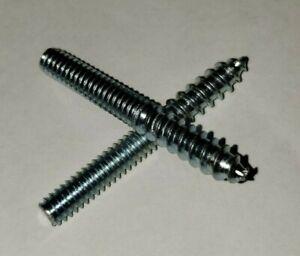 1//4 x 4 Hanger Bolts Full Thread Steel 100 Pack