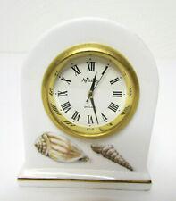 "Aynsley Fine Bone China Miniature Clock Sea Shells Handmade in England 2.5"" Tall"