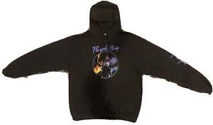 Prince Purple Rain Logo Hoodie NWT Large