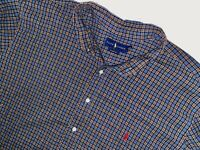 Polo Ralph Lauren button down 3XB Big shirt plaid blue flannel