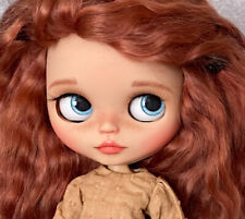 OOAK Custom Blythe doll with Red Mohair Sold NUDE