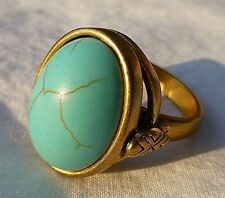 Silpada Coastal Color Ring KRR0056 SZ 6 Brass Turquoise New In Box
