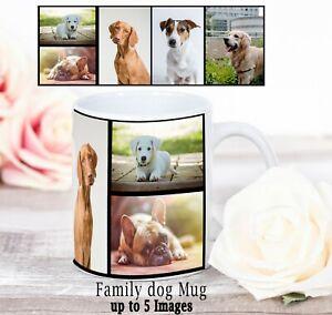 Personalised Mug Photo Mug  Custom Design Family Dog Collage Mug up to 5 images