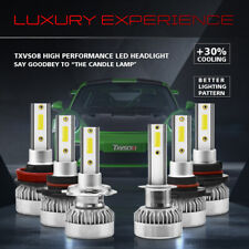 Super 55W LED Headlight Hi/Lo Beam Assembly H7 8000LM 6000K Bright Bulb Direct