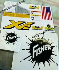 Fisher Minute Mount 2 Snow Plow Decals 9pc Kit for XV2 Series MM2 SD LD RD HD HT