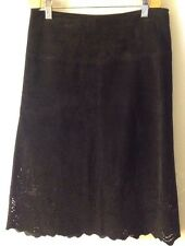 Women's Karen Kane 4 Black Suede Skirt