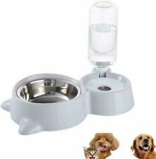 Small Pets Water and Food Bowl Set, Dogs Cats Feeder Bowl and Automatic