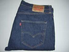 Mens LEVI'S STRAUSS & CO. 501 Dark Blue Denim Jeans W36 L36 - Iconic Jeans