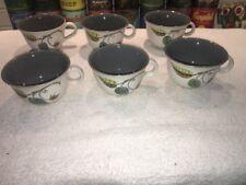 6 Vintage Denby Spring Coffee Tea Cups by Albert College
