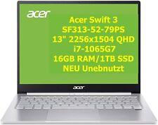 "Acer Swift 3 SF313-52 √ 13"" √ i7-1065G7√16/1TB √ Touch Notebook Laptop PC √ NEU"