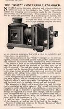 1910 AD RUBY CONVERTIBLE ENLARGER PHOTO CAMERA