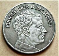 WW2 GERMAN COLLECTORS COIN 1936 ADOLF HITLER NSV REICHSMARK