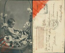 Cartolina pasquale con bambino