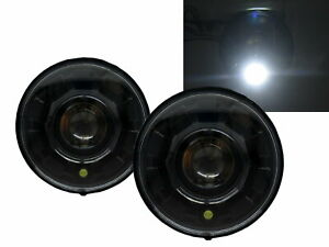 H1/H2 2003-2009 Truck LED Halo Projector Headlight Black for HUMMER RHD