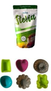 Steviola ® Stevia + Mini Kuchen-Form Backformen ✓ Lebensmittelecht ✓ Geruchlos ✓