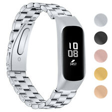 StrapsCo Stainless Steel Watch Band Strap for Samsung Galaxy Fit-e