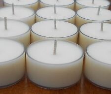 Unscented Soy Wax Tea Light Candles Sale Lot Tealights Natural TLites
