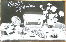 Realphoto 1960 Advertising Postcard: Radio/Cigarettes/Electric Shaver/Gloves