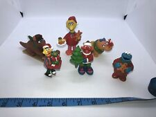 Applause Sesame Street Christmas Plastic PVC Figures Lot Set Cake Toppers