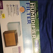 Best Air Perfect Blue Humidifier Filter CB41 1 with Chlora-Clear For Essick Air