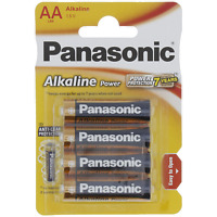 4 piles Panasonic AA R6 alcaline power plus