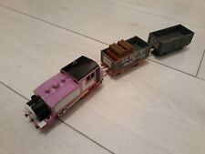 Thomas Trackmaster Rosie Train with trucks & cargo, RARE, battery operated