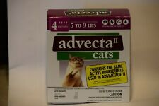Advecta Ii Flea& Tick for Cats 5-9 lbs 4 month supply. Brand New Sealed in box