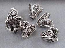 925 Silber Zwischenteile, Spacer Perlen, Altsilber, DIY Schmuck, Schmetterling