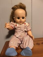 Vintage Jointed Sleepy Eye Strawberry Blonde Baby Doll Soft Plastic
