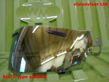 Aftermarket Arai Pinlock Visera L Tipo Oro Espejo Chaser Quatum Astro Viper GT