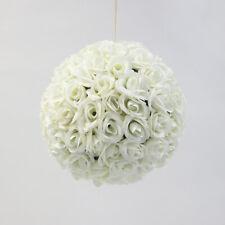 SILK ROSE FLOWER BALL 30CM 3 COLOURS POMANDER WEDDING DECOR EVENTS CENTREPIECE