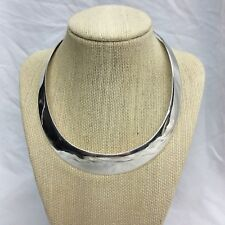 Stunning Vtg Modernist sterling 925 Wide Collar necklace