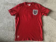 Umbro England Away 1970 Mexico World Cup Red Shirt Bobby Moore 6 West Ham COYI M