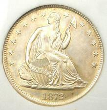 1872-S Seated Liberty Half Dollar 50C - Uncirculated Details (MS) - Nice Luster!