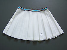 Head Tennis Sports Skirt Medium W30 in. White Pleated Short Mini Vtg # ITAx441