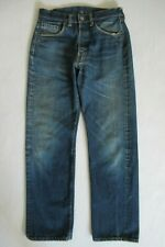 VINTAGE LEVIS 501 BIG E REDLINE SELVAGE DARK INDIGO DENIM JEANS PANTS