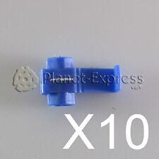 10 x Conectores cable Rapidos roba corriente Scotch Lock 1 a 2,5mm. AWG 18-14