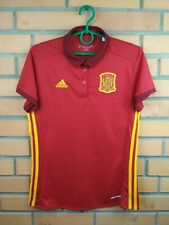Spain women jersey small 2016 home shirt B48982 soccer football Adidas