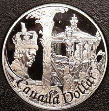 Rare Cameo Silver Proof Canada 2002 Dollar~29,688 Minted~50th Anniv~Free Ship