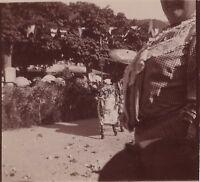 Carnevale Istantanea Foto Amateur Vintage Citrato Ca 1900