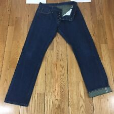 Mario's 3X1 Straight Dark Wash Selvedge Denim Button Fly New York Jeans 33x31.5