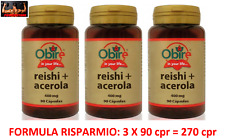 REISHI GANODERMA + ACEROLA 400 Mg 270 Cpr FUNGHI MEDICINALI SISTEMA IMMUNITARIO