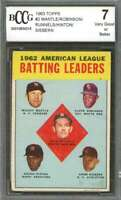 Mickey Mantle / Robinson / Runnels/Hinton Card 1963 Topps #2 Leaders BGS BCCG 7
