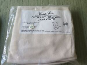 NEW Christie Covers BUTTERFLY Chair Cover Natural Heavy Cotton Duck Made in USA